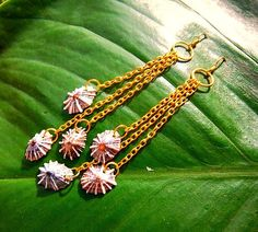 hawaiian jewelry opihi shell earrings by jaidith on Etsy, $20.00