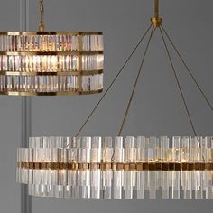 Old-world glamour meets modern energy efficiency with our stunning chandelier, illuminated with long-wearing LED panels. Decor, Round Chandelier, Lighting Design, Home Lighting, Modern Lighting Chandeliers, Mid Century Modern Chandelier, Crystal Chandelier, Lights, Chandelier