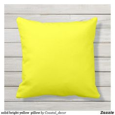 Shop Outdoor solid bright yellow pillow created by Colored_Pillows. Yellow Throw Pillows, Outdoor Throw Pillows, Neon Yellow, Mustard Yellow, Mustard Bedding, Hotel Collection Bedding, Modern Pillows, Perfect Pillow, Color
