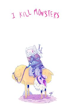 Still out of ideas, here's an Adventure Time x Witcher 3 mix.