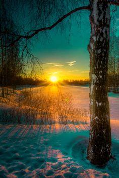 Invierno Salida del sol: