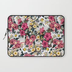 Check out society6curated.com for more! @society6 #floral #flowers #pattern #laptop #computer #case #sleeve #electronic #accessory #accessories #fashion #style #student #college #gift #idea #fun #unique #art #artsy #design #cool #awesome