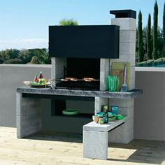 Le barbecue New Jersey Castorama Barbecue Garden, Barbecue Pit, Backyard Bbq, Outdoor Kitchen Patio, Outdoor Kitchen Design, Design Barbecue, Parrilla Exterior, Brick Bbq, Outdoor Furniture Sets