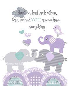 purple teal white grey nursery - Google Search