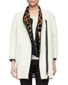 Subtle leopard print Burberry coat