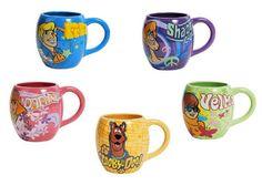 Scooby Doo Set of 5 Coffee Mugs Scooby Fred Daphne Velma Shaggy | eBay