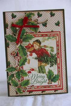 Graphic 45 T'was the night before Christmas' card #5 by Helen of Helen's Card Designs - Wendy Schultz ~ Graphic 45 Cards & Layouts..