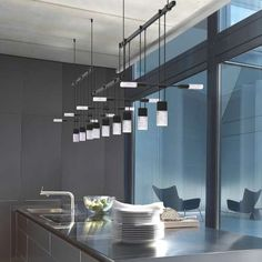 Suspenders™ 36 Inch 3 Bar Offset Linear 9 Light LED Suspension System