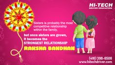 Team Hi-Tech #DrivingSchool wish you all a very very Happy Raksha Bandhan..!!  #RakshaBandhan  #Rakhi