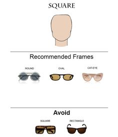 a82d65ea477b How to Choose Glass Frames for Your Face Shape. Square Face  SunglassesGlasses For Face ShapeDesigner ...