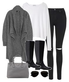 """""""Sin título #5110"""" by marym96 ❤ liked on Polyvore featuring mode, Topshop, T By Alexander Wang, Love Moschino, Zara, Prada en Calvin Klein"""