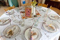 wedding reception ideas   Vintage Mismatched Wedding Reception 550x365 DIY Virginia Wedding ...
