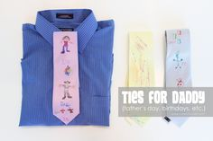 Personalized Ties for DADDY! (great for father's day, birthdays, etc.)  www.makeit-loveit.com