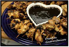 Desafios Gastronômicos: DESAFIO: Preparar comidinhas charmosas para o Dia das Crianças - Mini Espetinho de Frango Teriaki