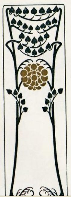 Art Nouveau Colour Stencil/@Tracy Stewart Pillarinos.#Art Nouveau Design#