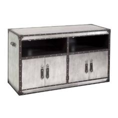 Check out the Bassett Mirror 2888-590EC Aeroway Entertainment Console Table