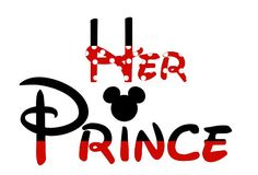 Custom Personalized Disney Mickey Her Prince Iron on Transfer Decal(iron on transfer, not digital download). $5.00, via Etsy.