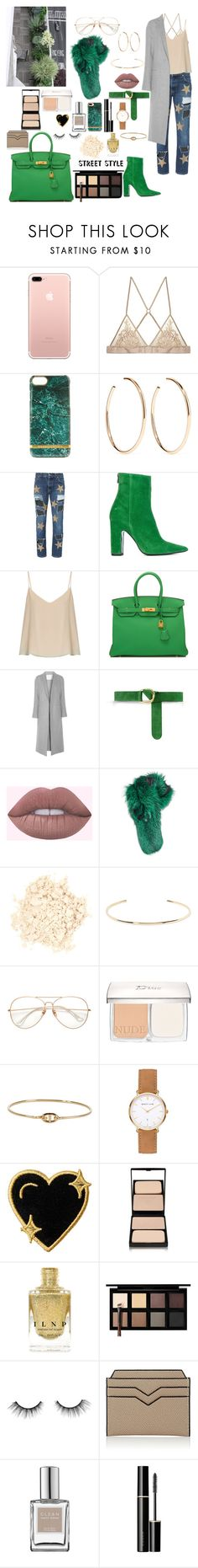 """""""Jealousy"""" by mylano ❤ liked on Polyvore featuring Richmond & Finch, Jennifer Fisher, History Repeats, Barbara Bui, Raey, Hermès, ADAM, Lilly e Violetta, Laura Mercier and Christian Dior"""