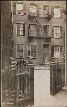 A Bit of Old New York, Milligan Place, Greenwich Village Date: 1905 - 1920
