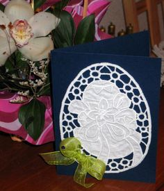 Advanced Embroidery Designs - Easter Egg Cutwork Lace