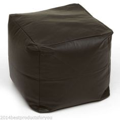 Faux-Leather-Suede-Foot-Stool-Rest-Pouffe-Cube-Box-Seat-Bean-Bag-with-Filling