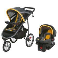 Graco Fast Action SnugRide Click Connect 35 Elite Sunshine Plastic Jogger Travel…