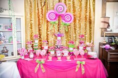 Candy Shoppe Birthday Party | Sweet Customers} Pink Sweet Shoppe Birthday Party! | The TomKat ...