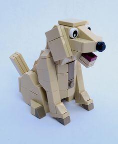Dexter the Dog by Wami Delthorn Lego Tree, Lego Furniture, Lego Sculptures, Lego Animals, Mind Up, Lego Design, Dog Crafts, Gamer Room, Lego Ideas