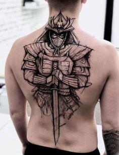 Erstaunliche stilisierte Samurai-Figur - Tattoos - old school frases hombres hombres brazo ideas impresionantes japoneses pequeños tattoo Japanese Mask Tattoo, Japanese Tattoo Designs, Best Tattoo Designs, Tattoo Sleeve Designs, Sleeve Tattoos, Japanese Warrior Tattoo, Hand Tattoos, Cool Tattoos, Finger Tattoos