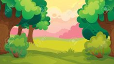 Image result for forest cartoon