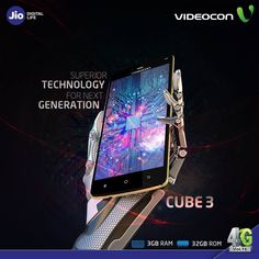 Do effortless multitasking with #Videocon Cube 3 which has astonishing 3 GB RAM & 32 GB ROM. Know more: http://www.videoconmobiles.com/cube3-v50jl