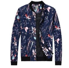 Cool flower bomber jacket for men plus size jacket coat
