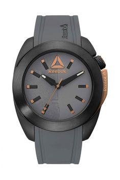 c4c8c4a57d68 Reebok Dropsnatch Mens Analog Japanese-Quartz Black Watch with Grey  Silicone strap - RD-