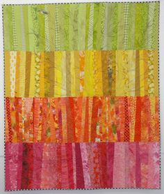 """Quilt Pattern from """"The Quilt Life"""" (Feb 2012) - Bands of colour with some beautiful details upon closer look. 