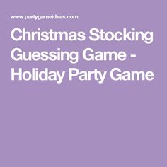 Christmas Stocking Guessing Game - Holiday Party Game