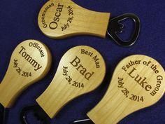 6 Engraved Magnetic Bottle Openers Personalized Groomsman Usher Best Man Ring Bearer Wedding Gift Favor Keepsake