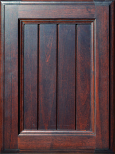 Ferrara Grooved Flat Panel Door  Available Material: Standard Wood Species Color Shown: Walnut Stain on Alder Material Available in All Outside Profiles - Shown with Venice Outside Profile Face Framing, Walnut Stain, Custom Cabinetry, Panel Doors, Wood Species, Cabinet Doors, Color Show, Venice, Profile