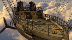 Afbeeldingsresultaat voor steampunk airship