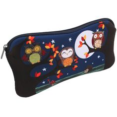 Santoro Pencil Case: Owls Cute Characters, Owls, Zip Around Wallet, Pencil, Birds, Bird, Owl