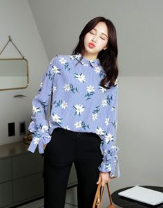 Floral Embroidered Floral Blouse | USD56