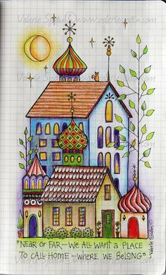 """visual blessings: The idea of """"HOME"""" in my Moleskine Journal"""