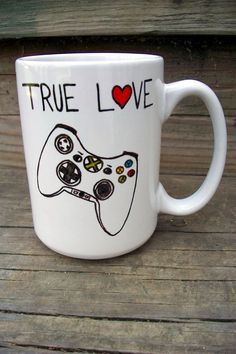 Xbox Love Funny Coffee Mug MMMug / Tea Cup by betwixxt on Etsy