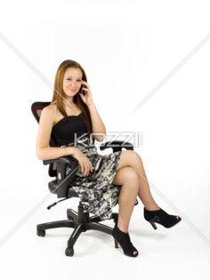 teen girl on phone - A teenaged girl on her cellphone