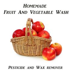 All-Natural Fruit And Vegetable Wash Spray - remove pesticides and wax from produce