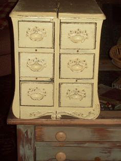 It's Just My Imagination: sewing machine drawers