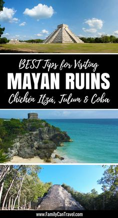 Our best tips for visiting the Mayan Ruins around Playa del Carmen, Mexico! Click to read more at FamilyCanTravel.com | Family Travel | Travel with kids | Mexico with kids | #Mexico #familytravel #travelwithkids #playadelcarmen #cancun
