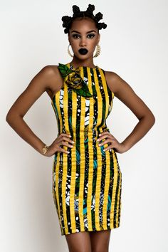 Ankara with Strips of ribbon or other fabrics