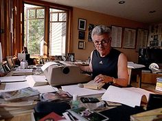 John Irving in his element.