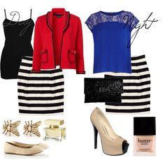 Day to Night-- Black and White skirt