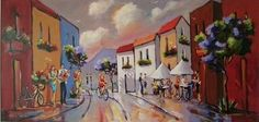 Street Scene With Cafe And Musicians - Gericke Anton African Art Paintings, Upcoming Artists, South African Artists, Anton, Musicians, Art Gallery, Scene, Passion, Oil
